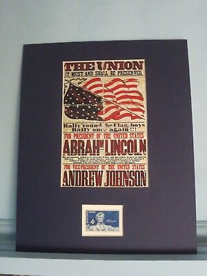 1864 - Abraham Lincoln runs for President with Andrew Johnson & his own stamp