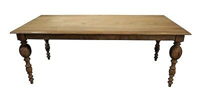 """French Country Rustic Gray Farm Dining Table 80"""" Long"""