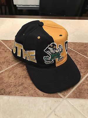 Notre Dame Fighting Irish American Needle Vintage Big Letters Snapback Hat