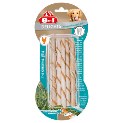Friandises Twisted Delights Sticks Dental pour Chien - 8in1 - x10