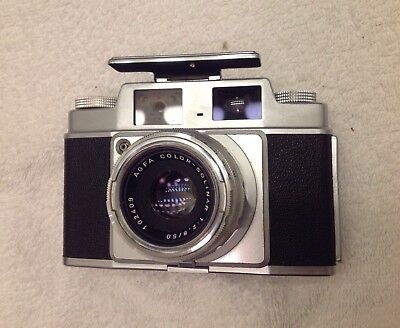AGFA AMBI SILETTE 35mm RANGEFINDER CAMERA & COLOR-SOLINAR 50mm F/2.8 LENS