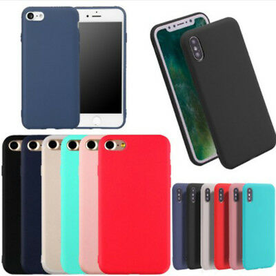 For iPhone 6s plus 7 8 X SE Mobile Polish Soft Phone Shell Case Cover Dull Set