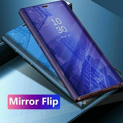Samsung S7 S8 S9 S10 (5G) A70 MIRROR Smart View Flip Hard tough Back Case Cover