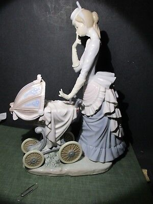 Lladro Figurine 4938 Quot Baby S Outing Quot Mother Pushing Baby