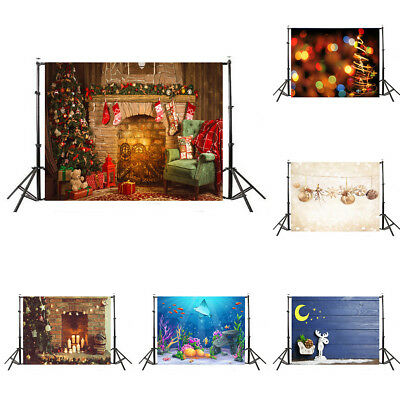 CN_ 7x5FT Christmas Wall Photography Backdrop Photo Studio Props Background Si