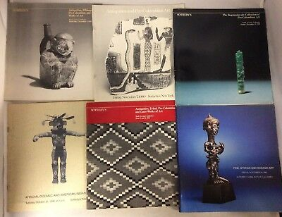 Tribal Oceanic African Pre-Columbian Art Sotheby's Lot of 6 Auction Catalogues