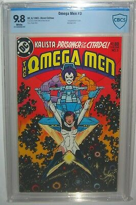 OMEGA MEN #3 FIRST Appearance LOBO 1983 Direct Edition CBCS>CGC 9.8