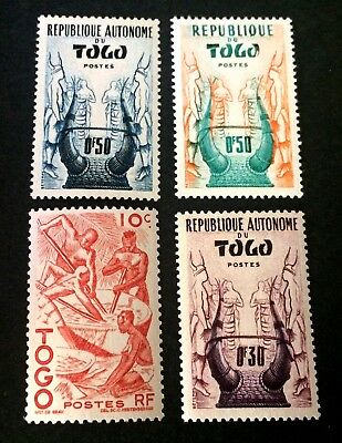 Togo 4 old mint hinged stamps