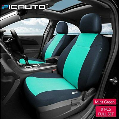 PICAUTO Car Seat Covers Set for Auto, Truck, Van, SUV - PolyCloth, Airbag Mint