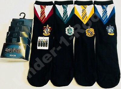 ddb1b2592136b PRIMARK LADIES HARRY POTTER HOUSE TEAMS UNIFORM 4 PACK SOCKS - Size UK 4-8
