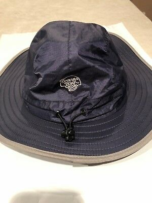 Banana Boat Adult Sun Hat Navy Blue W  Grey Trim 50 UPF Protection One Size 5421247602f7