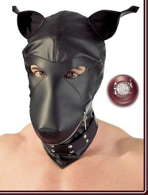 Toy Sex Maschera Canina Leather Dog Mask Fetish Bondage BDSM Slave Restraint hot