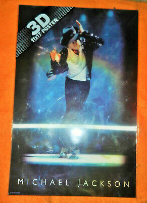 michael jackson 3d lenticular 11x17 high quality ink durable poster