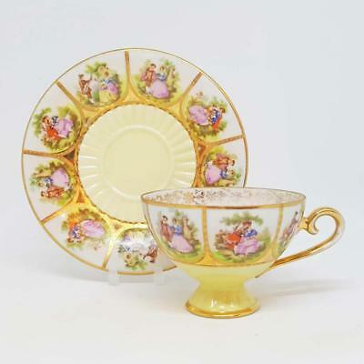 Antique Vienna 19th Century Cup and Saucer - Extremely Rare