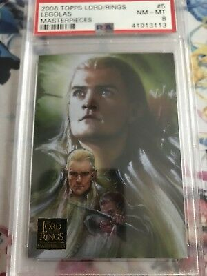 PSA 8 Topps Lord Of The Rings Masterpieces Legolas #5 POP 1 2006
