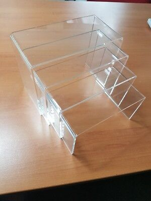 Set of 4 acrylic risers, brand new and great quality and CHEAP!!! Back In Stock