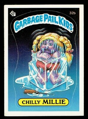 GARBAGE PAIL KIDS: 1ST SERIES, CHILLY MILLIE, 32b, MATTE, EX, USA