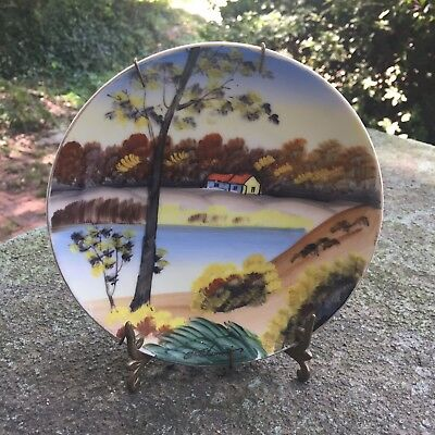 Unique Antique Hand painted Small Decorative Japanese Plate