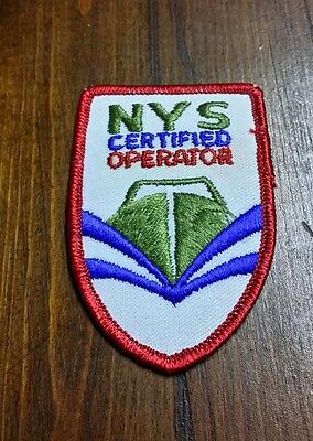 RARE NYS CERTIFIED OPERATION Iron or Sew-On Patch