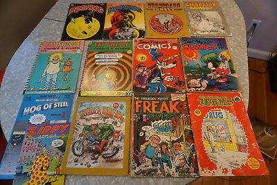 Underground Comic BooksCollection of 13 rare FREE SHIPPING!!