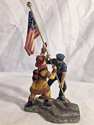 "2001 We The People Statue ""Raising The Flag"" - Cast Art Industries"