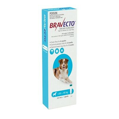 Bravecto Spot-on Flea & Tick Treatment for Dogs 20-40kg
