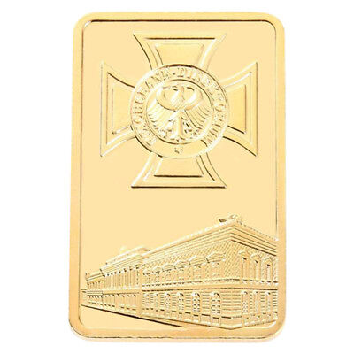 Gold Brick Bitcoin Commemorative Collectors Gift  Coin Bit Coin Art CollectionJF