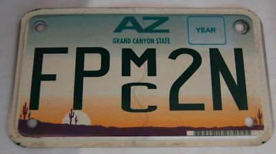 AZ  Motorcycle License  Plate,FPmc2N, Voted1997 Plate Of The Year Expired