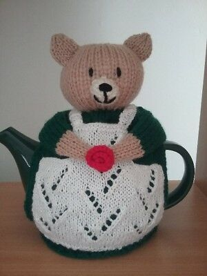 knitted bear tea pot cosy -  4  cup