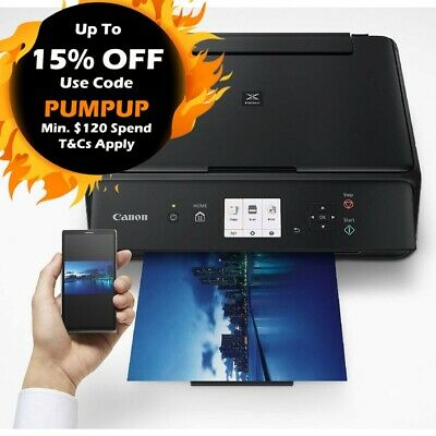 Canon PIXMA TS5060-BK 3in1 Wi-Fi Inkjet MFP Printer  *NO STARTER INK*