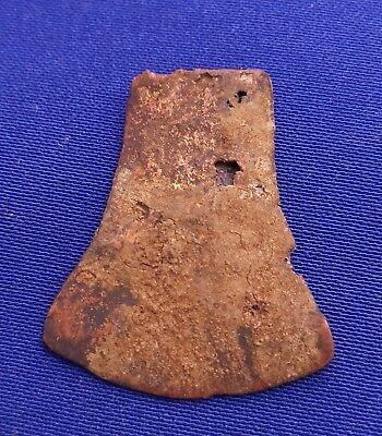 TINY RARE 1.4 INCH  LAOS Bronze Socket Ax Adze Medieval Grave Offerings [tp62]