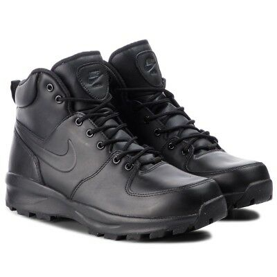Men's Nike ACG Manoa Leather Boot Black/Black Sizes 8-12 New In Box 454350-003