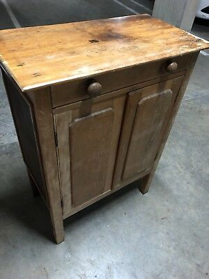 Meat Safe Old Kauri Pine ? Sideboard Antique Rustic Very Old Dovetail Joints