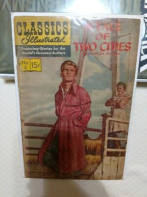 """""""A Tale of Two Cities"""" #6 Classics Illustrated"""