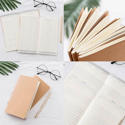 Portable Retro Notebook Diary Paper Blank Lined Notepad Pocket Memo Stationery