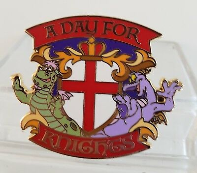 "Adventures By Disney ""a Day For Knights"" Elliot & Figment Crest Le Htf Gift Pin"