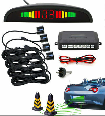 Black - Parking Sensor Rear 4 Sendors LCD Display Audio Buzzer Alarm *--=*WKK/SS
