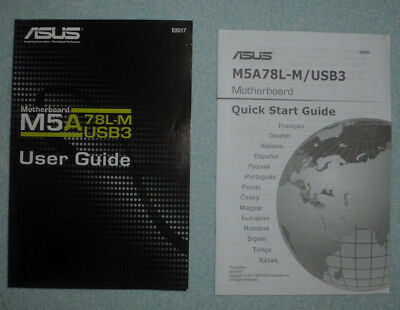 ASUS M5A78L-M/USB3 Motherboard Manual, Anleitung, User Guide, Quick Start Guide