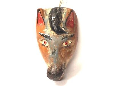 Small wooden Horse face mask - Mexican Folk Art Guerrero