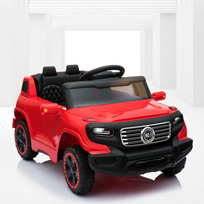 6V Kids Ride On Car w/Parent Control 3 Speeds LED Headlights MP3 Player Red