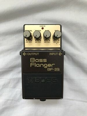 VINTAGE & RARE 1987 Boss BF-2B Bass Flanger Effects Pedal - MIJ Green Label