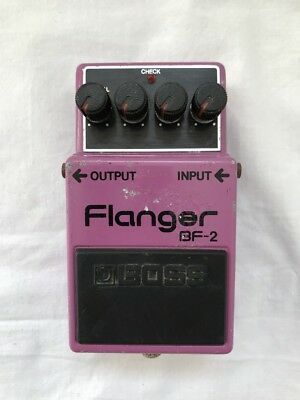VINTAGE & RARE 1980 Boss BF-2 Flanger Guitar Effects Pedal - MIJ Silver Screw