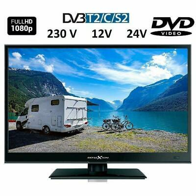 16 Zoll Full HD LED TV DVB-S2 DVB-T2  DVD CI+ 12/24V 230V A++ Camping, Reise