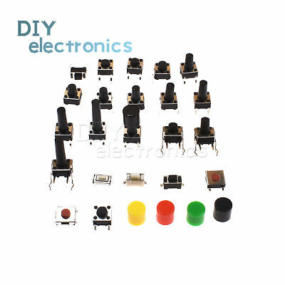 SMD/DIP Push Button Micro Switch Tact Switch 3X6X2.5mm-6X6X17mm 2/4/5 pin US