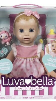 LUVABELLA Doll Blonde Hair Brand New