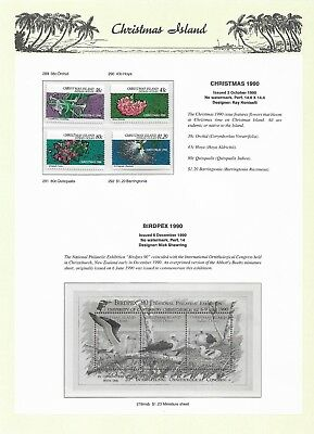 1990 Christmas MUH set 4 in Clear mounts on 7 Seas page  sold as per Scan