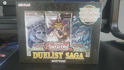 YU-GI-OH DUELIST SAGA BOOSTER BOX 3 PACKS of 5 CARDS BRAND NEW AND SEALED!