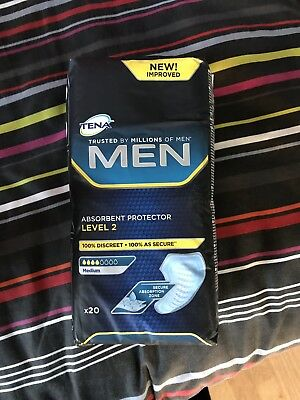 1PACK OF 20 TENA MEN ABSORBENT PROTECTOR LEVEL 2 Medium
