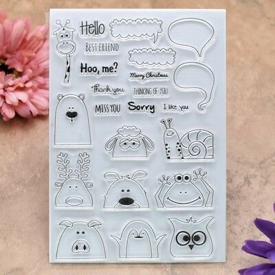 Hello BEST FRIEND MISS YOU Sorry Scrapbook DIY rubber stamp clear stamp
