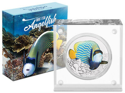 Niue -2018- Silver $2 Proof Coin- 1 OZ Reef Fish - Angelfish